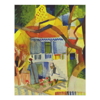 August Macke - Inner Court of Country House 1914 Poster
