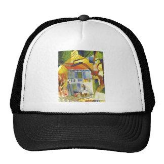 August Macke - Inner Court of Country House 1914 Trucker Hat