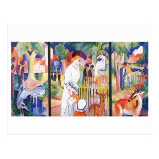 August Macke - jardín grande Triptychon 1913 del Postales
