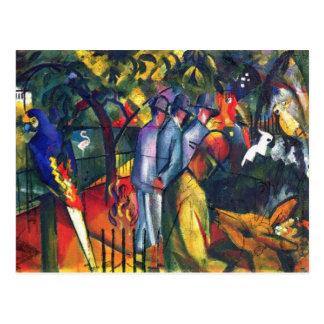 August Macke - jardín zoológico I Postales