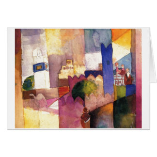 August Macke - Kairouan (III) 1914 Watercolor Card