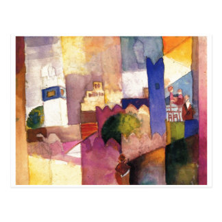 August Macke - Kairouan (III) 1914 Watercolor Postcard