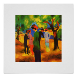"August Macke. ""Lady in a Green Jacket"" Art Poster"