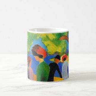 August Macke - Lady in a Green Jacket Coffee Mug