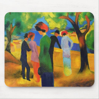 August Macke - Lady in a Green Jacket Mouse Pad
