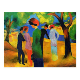 August Macke - Lady in a Green Jacket Post Card