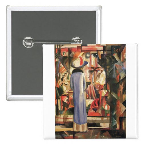 August Macke - Large Bright Shop Window 1912 Oil Pins