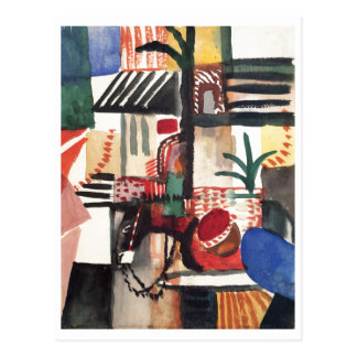 August_Macke - Man with Donkey 1914 Watercolor Postcard