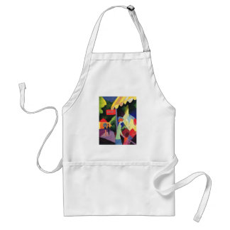 August Macke -  Modefenster 1913 watercolor Adult Apron