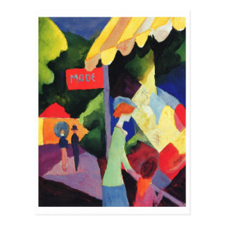 August Macke -  Modefenster 1913 watercolor Postcard