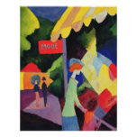August Macke -  Modefenster 1913 watercolor Poster