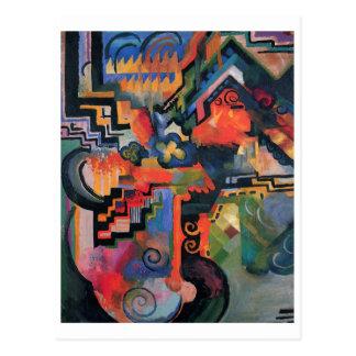 August Macke - oda de la composición del color a Postal
