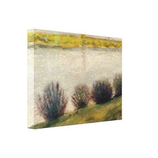 August Macke - On the Rhine Canvas Prints