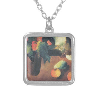 August Macke Painting - Personalized Square Pendant Necklace