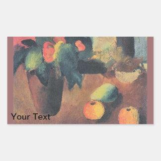 August Macke Painting - Personalized Rectangular Sticker