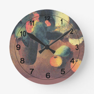 August Macke Painting - Personalized Round Wall Clocks
