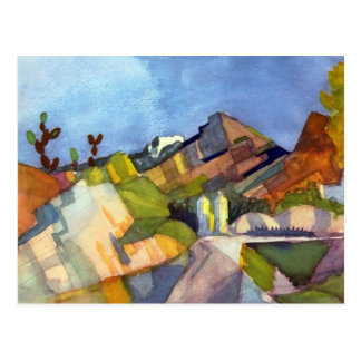 August Macke - paisaje rocoso Tarjeta Postal