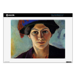 August Macke - Portrait of the wife of the artist Acer Chromebook Decal