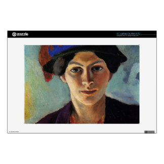 August Macke - Portrait of the wife of the artist Laptop Decals