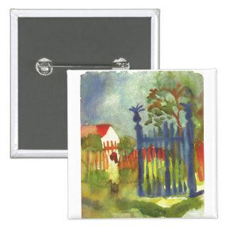 August Macke - puerta de jardín Gartentor 1914 Pin