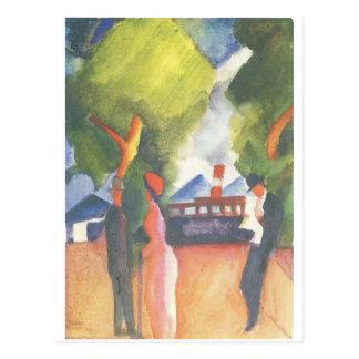 August Macke que pinta la postal c.1914