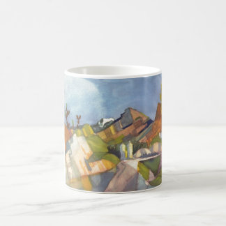 August Macke - Rocky Landscape 1914 Watercolor Classic White Coffee Mug