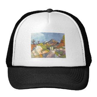 August Macke - Rocky Landscape 1914 Watercolor Trucker Hat