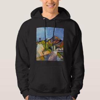 August Macke - Rocky Landscape Hooded Sweatshirt