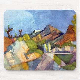 August Macke - Rocky Landscape Mouse Pad