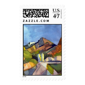 August Macke - Rocky Landscape Postage