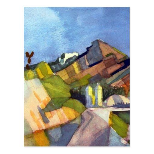 August Macke - Rocky Landscape Postcard