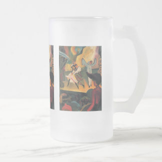 August Macke - Russian Ballet Frosted Glass Beer Mug