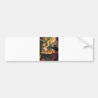 August Macke - Russisches Ballett 1912 Oil Ballet Bumper Sticker