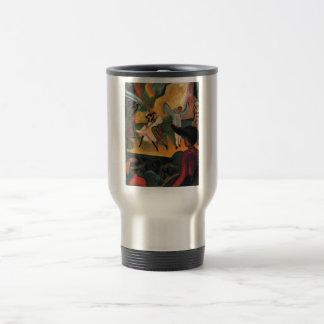 August Macke - Russisches Ballett 1912 Oil Ballet Coffee Mug