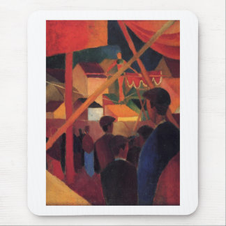 August Macke - Seiltänzer 1914 Oil Canvas Circus Mouse Pad