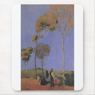 August Macke - Spaziergänger 1907 oil  pasteboard Mouse Pad