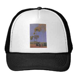 August Macke - Spaziergänger 1907 oil  pasteboard Trucker Hat