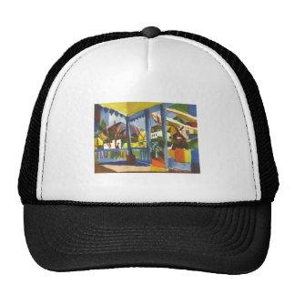 August Macke - Terrasse in St. Germain 1914 Trucker Hat