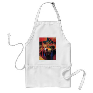 August Macke - Tightrope Walker Adult Apron