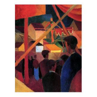 August Macke - Tightrope Walker Postcard