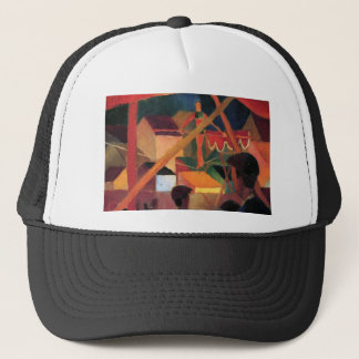 August Macke - Tightrope Walker Trucker Hat