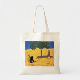 August_Macke Tree in Cornfield 1907 Oil and Pencil Bags