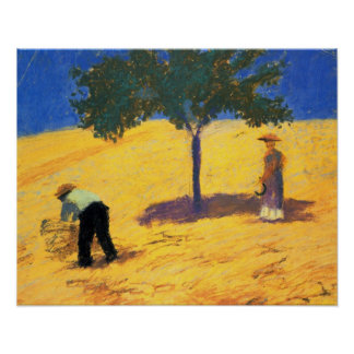 August Macke Tree in the Cornfield Poster