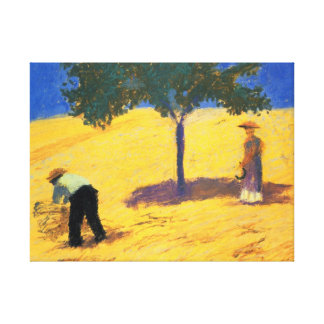 August Macke Tree in the Cornfield Wrapped Canvas Stretched Canvas Print