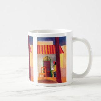 August Macke - Turkish Cafe I Classic White Coffee Mug