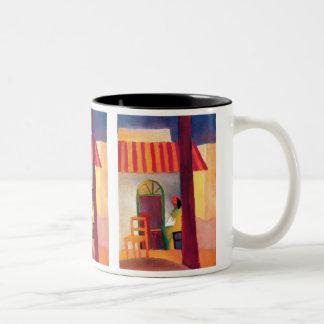 August Macke - Turkish Cafe I Two-Tone Coffee Mug