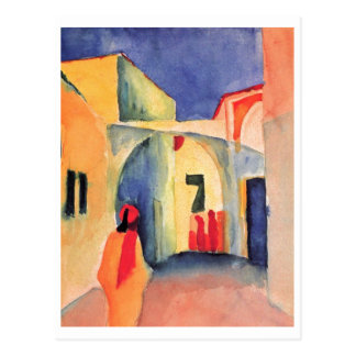 August Macke - View Into A Lane 1914 watercolor Postcard