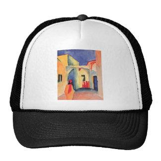 August Macke - View Into A Lane 1914 watercolor Trucker Hat