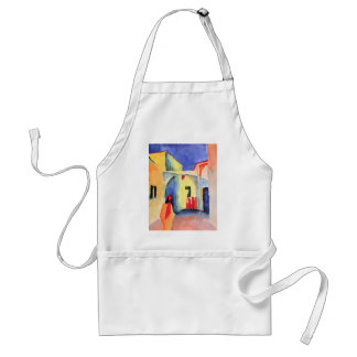 August Macke - View into a Lane Adult Apron