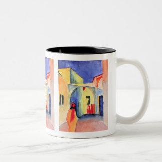 August Macke - View into a Lane Two-Tone Coffee Mug